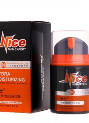 Очищающее средство для лица nice men expert hydra moisturizing, 50 г