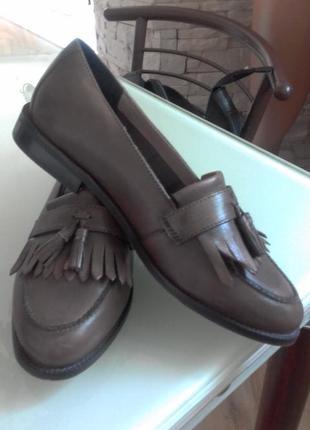 Шкіряні туфлі-лоуфери в англійському стилі(шкіра)white stuff White ... db9123c70788d