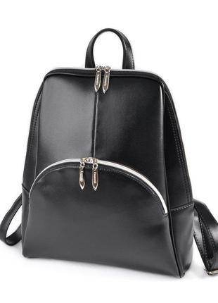 Черный женский городской рюкзак