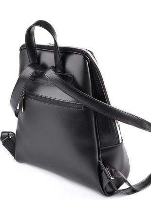 Черный женский городской рюкзак3 фото