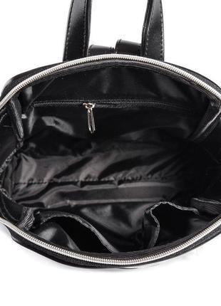 Черный женский городской рюкзак5 фото