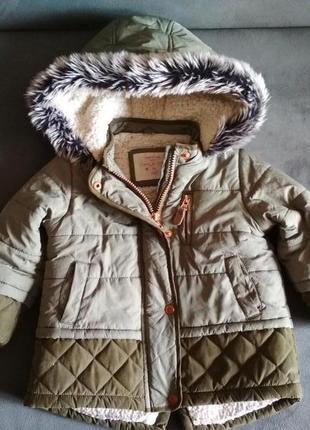 Парка f&f, куртка демисезонная, курточка 12-18 мес 86 см