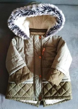 Парка f&f, куртка демисезонная, курточка 12-18 мес 86 см4 фото