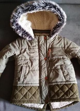 Парка f&f, куртка демисезонная, курточка 12-18 мес 86 см3 фото