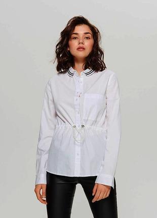 Очень стильная и необычная,белоснежная рубашка,натуральная
