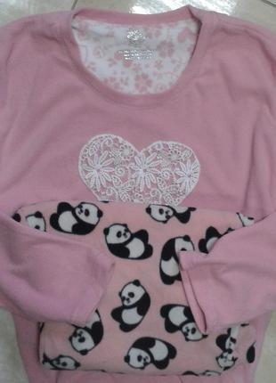 Мягкая пижама с пандами:) л-хл англия primark