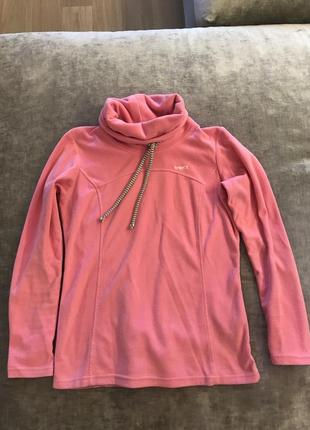Розовая флисовая кофта termit