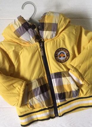 Демисезонная куртка бомбер для малышей 1-2 года