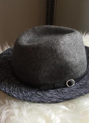 •oliver bonas  👒сіренька шляпка з чорним пояском