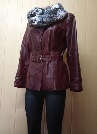 Шикарная кожаная куртка,жакет,пиджак.44-46р.от бренда maria kurki.9 фото