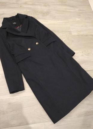 Стильное пальто topshop темно-синего цвета