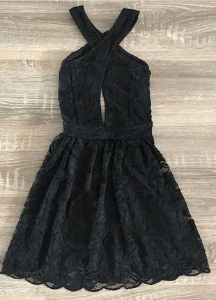 Чорне ажурне плаття з гарним перепльотом від h&m
