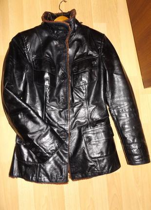 3ed09189c4f Шикарная и теплая полностью натуральная курточка дубленка umut leather  турция