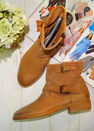 Elvio zanon. кожа. стильные ботинки на низком ходу