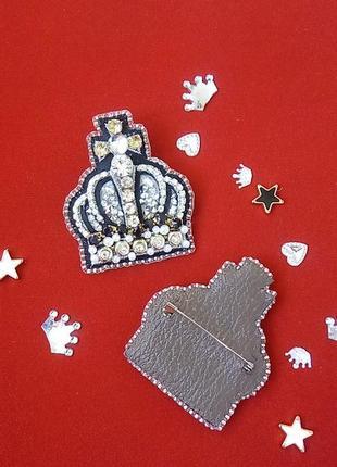 Эффектная брошь корона для принцесс и королев всех возрастов