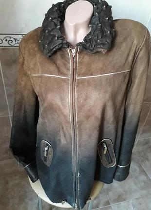 Куртка замшевая, градиент