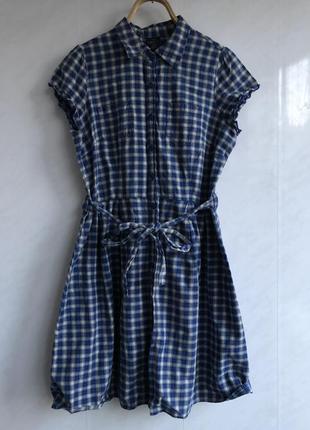 Детское faded glory платье халатик в стиле прованс или летнем морском. в клеточку.