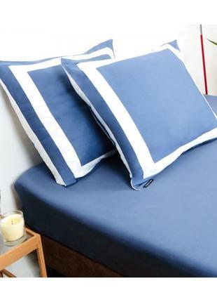 Комплект постельного белья karl lagerfeld klt00045 белого/синего цвета