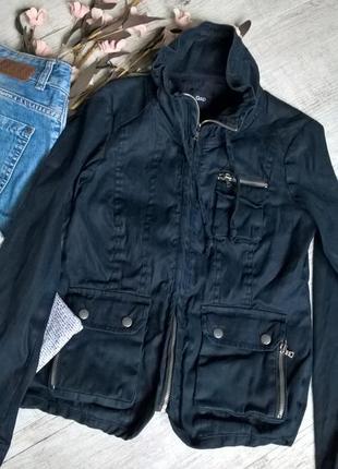 Куртка от gap/темно-синяя/леновая на котоновой подкладке/тянется-xs-34р
