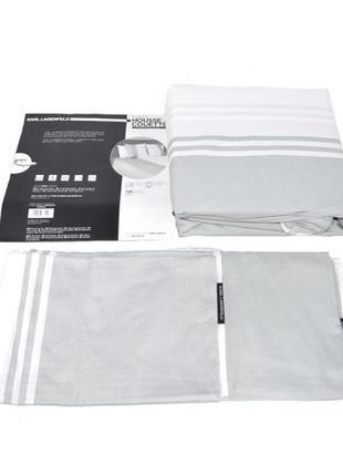 Комплект постельного белья karl lagerfeld klt00048 белого/серого цвета2