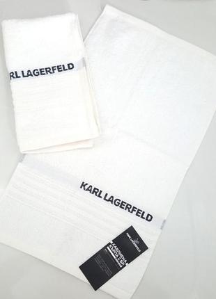 Полотенце (комплект из двух единиц) karl lagerfeld klt00026 белое