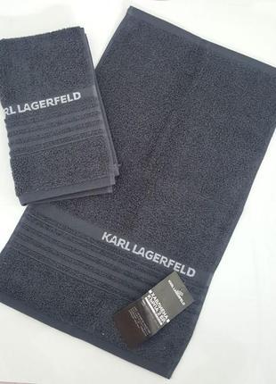 Полотенце (комплект из двух единиц) karl lagerfeld klt00027 серое