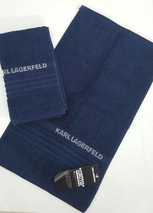 Полотенце (комплект из двух единиц) karl lagerfeld klt00028 синее