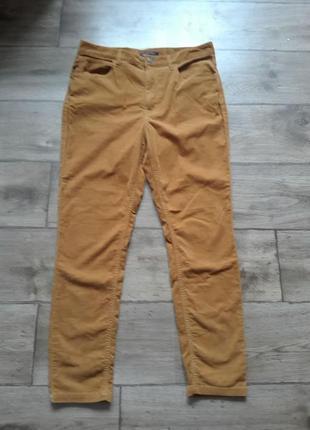 Тренд. вельветовые горчичные брюки m&s collection