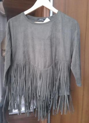 Тренд. бохо шик. стильная блуза bershka