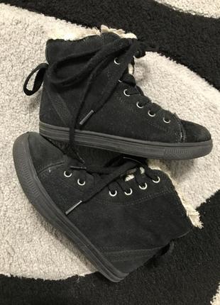 Замшевые ботиночки 27 р*