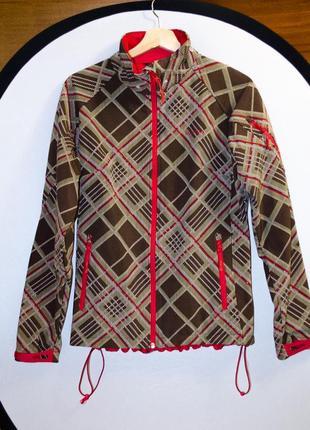 Фирменная качественная красно-коричневая куртка ветровка skogstad норвегия