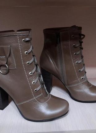 Ботинки ботильйоны натуральная кожа р.39,40