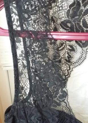 Черное платье с кружевом от oasis4 фото