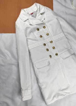 Пальто белое весеннее пальто двубортное пальто в стиле шинель пальто под шинель