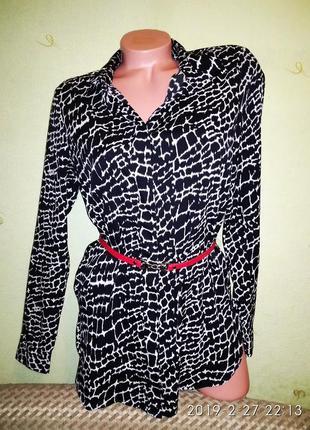 Суперская чёрно-белая туника,рубашка,блуза,сорочка