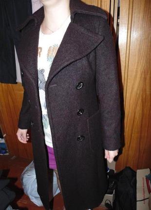 Пальто двубортное шерстяное zara оригинал10 фото