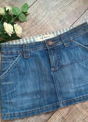 Джинсовая мини юбка от denim, синяя - s