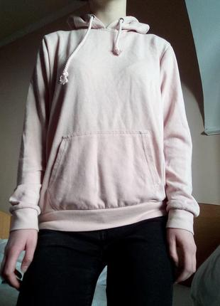 Худи нежно-розового цвета
