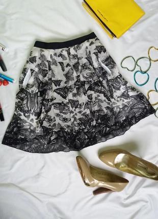 Шифоновая пышная юбка с мотыльками