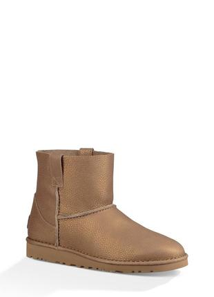 Ботинки полусапожки угги кожаные ugg classic unlined mini австралия сша оригинал