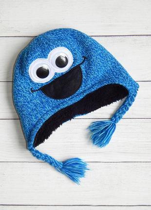 Теплая шапка c глазами от george, для мальчика 4-8 лет. 104-128.
