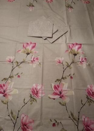 Комплект постельного белья из натуральной ткани нежность