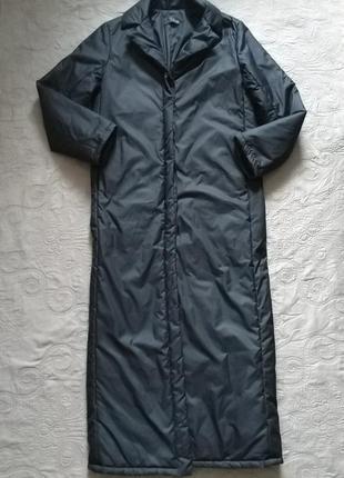 Тренд. длиное, прямое, утеплённое пальто в пол toi du monde. made in france 38 (44-46)