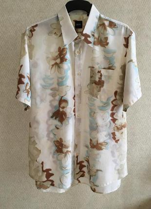 Шведка рубашка с коротким рукавом hugo boss