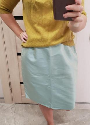 Apriori  немецкий бренд шелковая юбка размер xl -полуобхват бёдер вход builder  56 см xxl