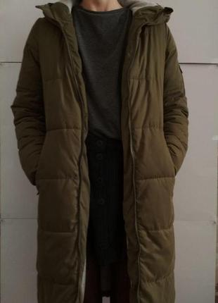 Теплая длинная куртка