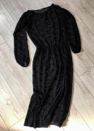 Платье макси миди сетка микрофибра пляжная накидка