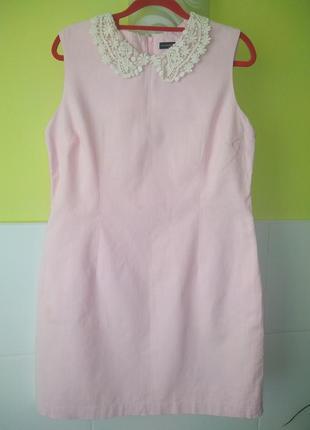 Нежно розовое платье с воротничком от atm