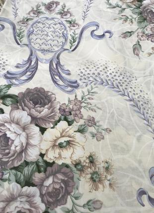 Постельный комплект цветы розы нежность бязевый