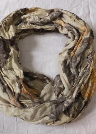 Весенний шарф хомут шаль шарфик палантин деми